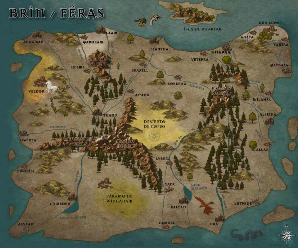 Mapa de Brin - Feras