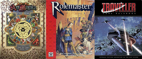 ars magica - rolemaster - traveller