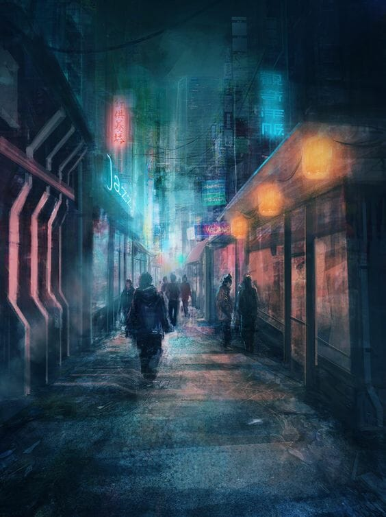 arte ciberpunk que podría ser de munch