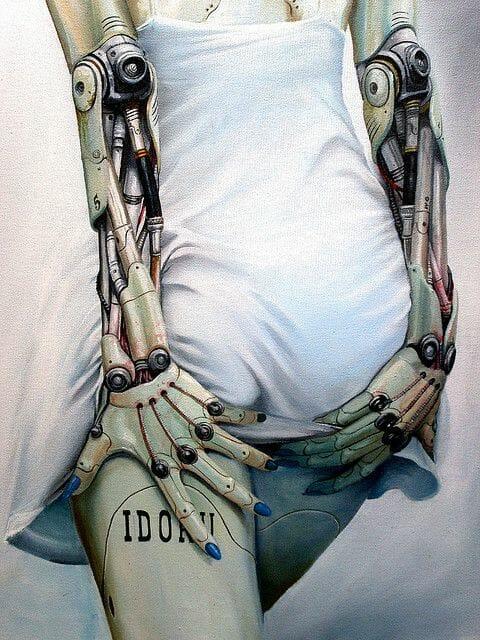 arte ciberpunk sexydoll