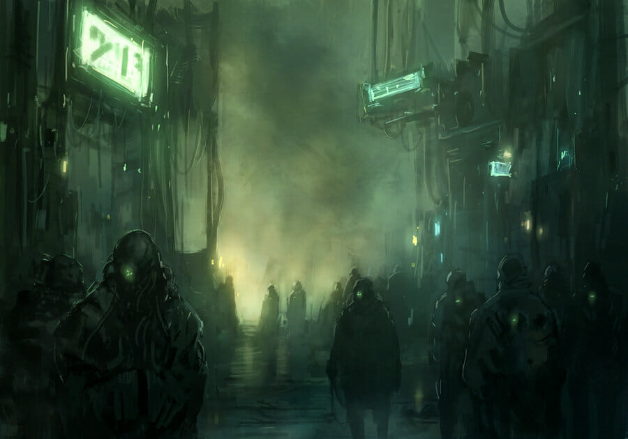 arte ciberpunk el infierno