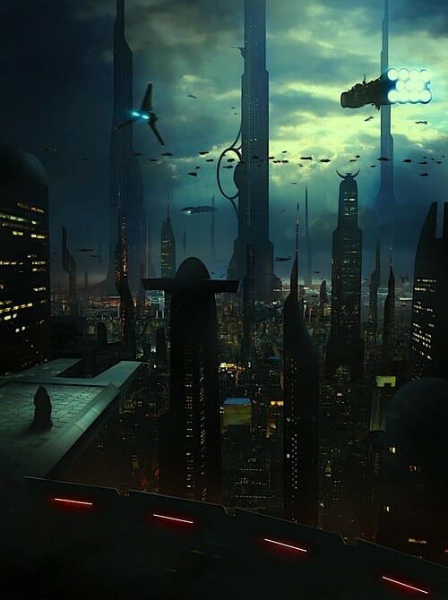 Cyberpunk city arte ciberpunk