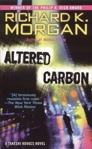 carbono alterado - cubierta de la novela