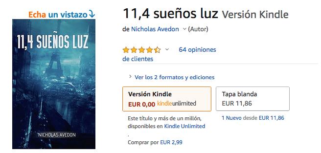 11,4 sueños luz en Amazon