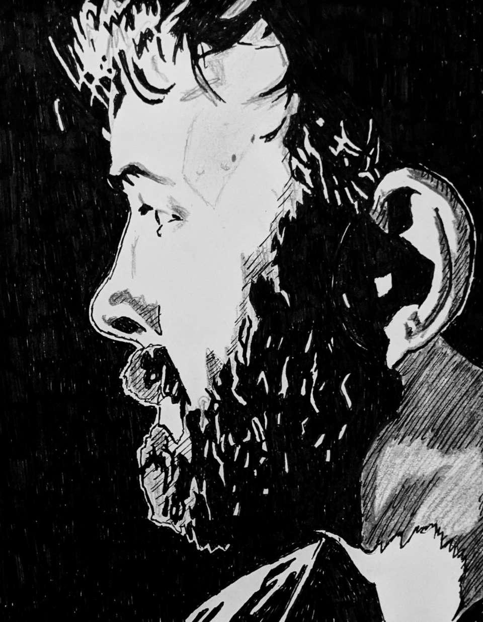 Retrato de Nicholas Avedon